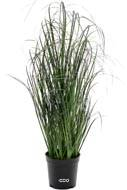 Herbe folle artificielle en pot isolepsis factice H 60 cm D 35 cm Vert