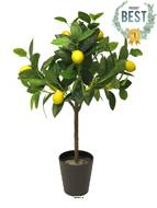 Citronnier en pot artificiel avec fruits H 70 cm 12 citrons factices