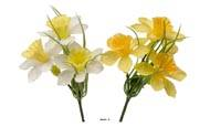 Mini bouquets X6 de Narcisses artificielles assorties  H 15 cm en piquet