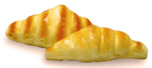 Croissant artificiel en lot de 2 en mousse PU  L 160x90 mm
