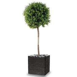 Buis boule artificiel H 170 cm D 60 cm tronc naturel Int Ext en pot