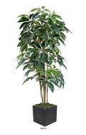 Schefflera artificiel en pot Iroto tronc naturel superbe densite H 180 cm Vert